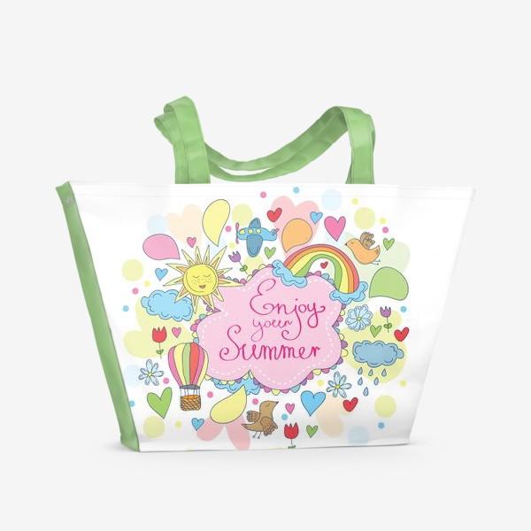 Пляжная сумка «Наслаждайся летом»