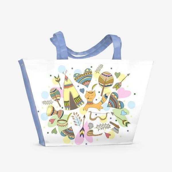 Пляжная сумка «Индейские мотивы»