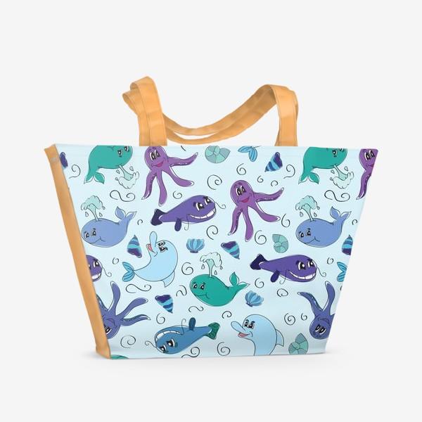 Пляжная сумка «Морской мир»