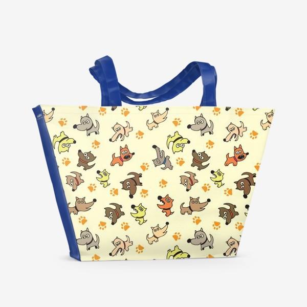 Пляжная сумка «Собачки»