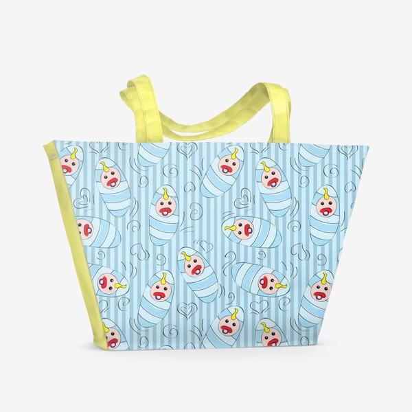 Пляжная сумка «Новорожденные - мальчик»