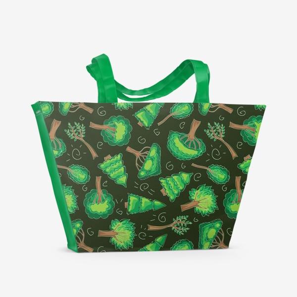 Пляжная сумка «Лесной паттерн»