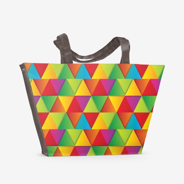 Пляжная сумка «Яркие треугольники»