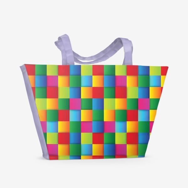 Пляжная сумка «Яркие квадраты»