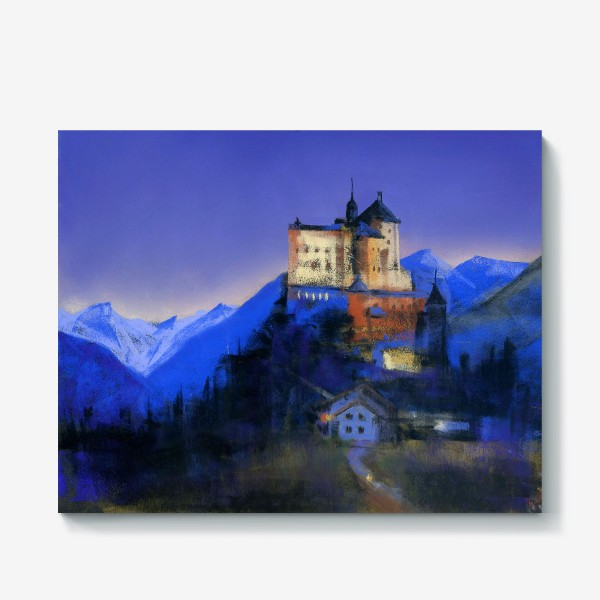 Холст «Замок Тарасп. Ночь»