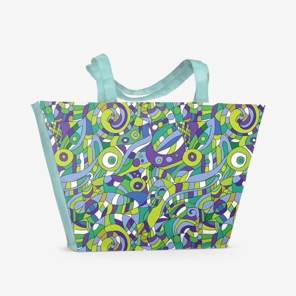 Пляжная сумка «Подводный мир. Паттерн»