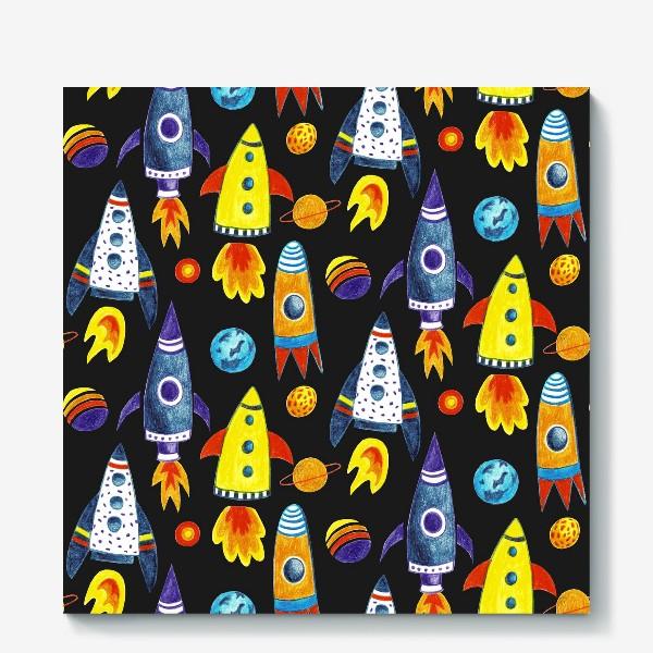 Холст «Детский космический принт»