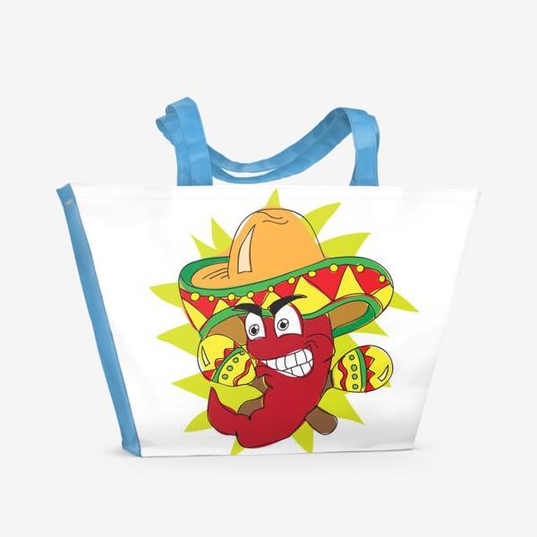 Пляжная сумка «Мексиканский перчик»