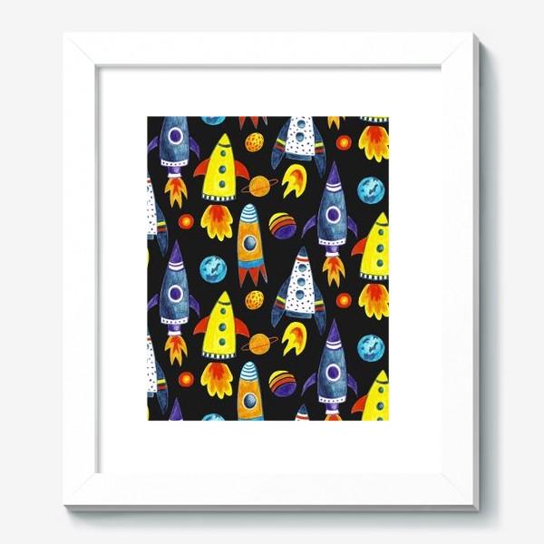 Картина «Детский космический принт»
