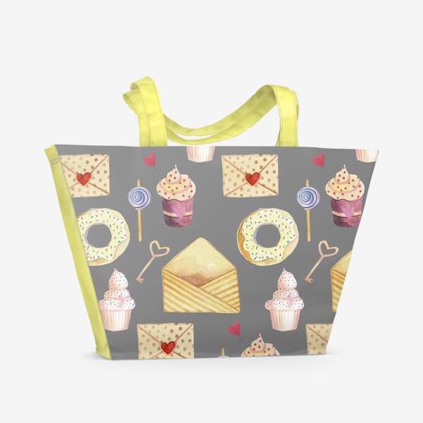 Пляжная сумка «Романтичный паттерн»