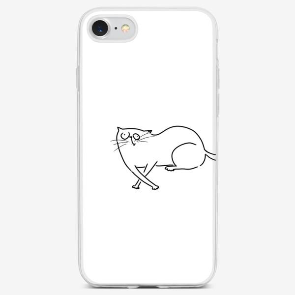 Чехол iPhone «Чудной кот. запутался »