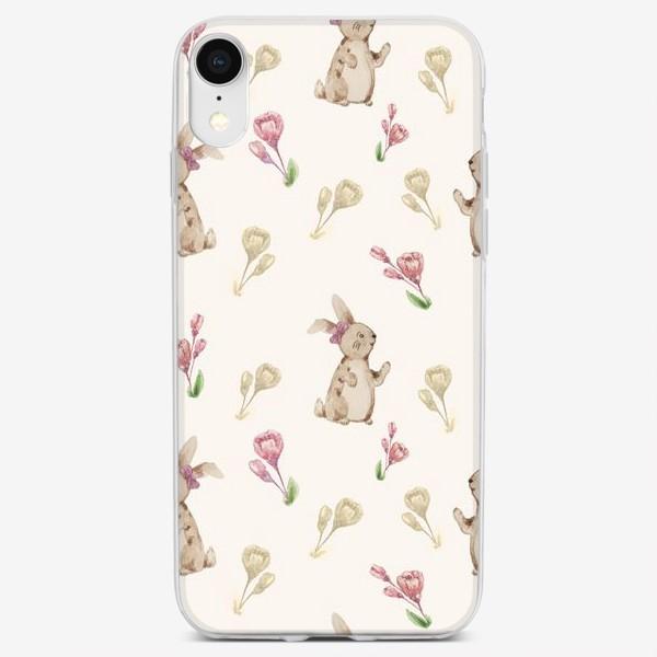 Чехол iPhone «Зайчики»