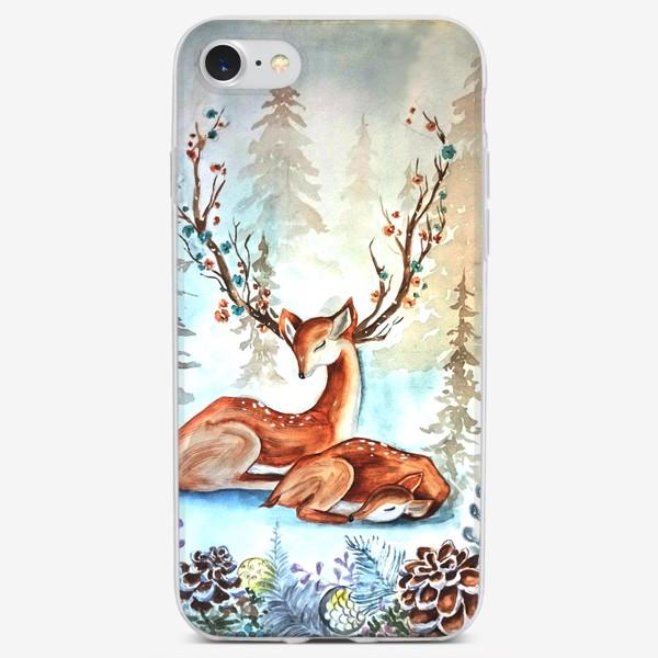 Чехол iPhone «Оленята»