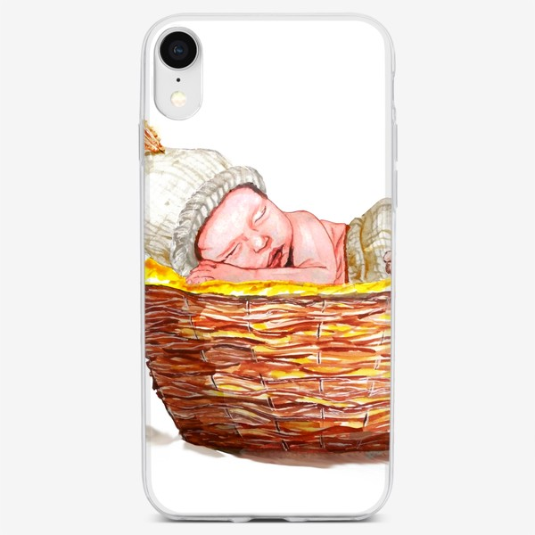 Чехол iPhone «Малыш в корзинке»