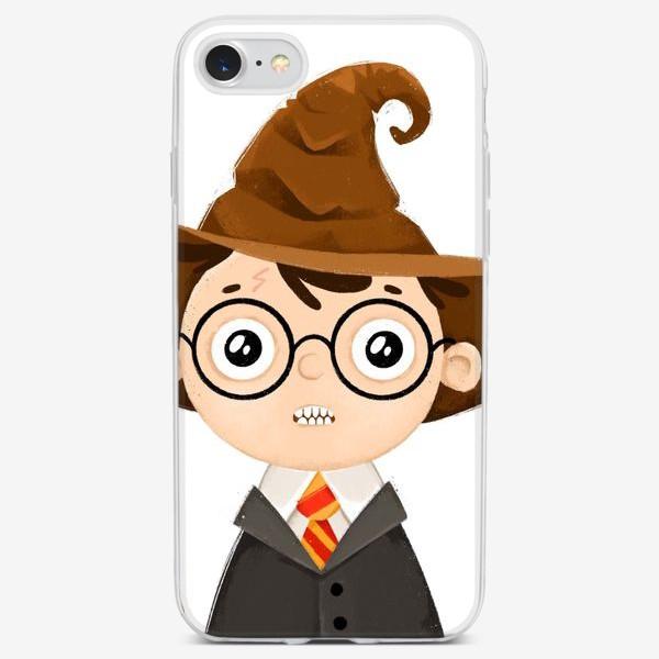 Чехол iPhone «Гарри Поттер и распределяющая шляпа»