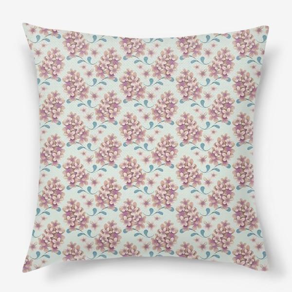 Подушка «Нежные цветы в пастельной цветовой гамме»