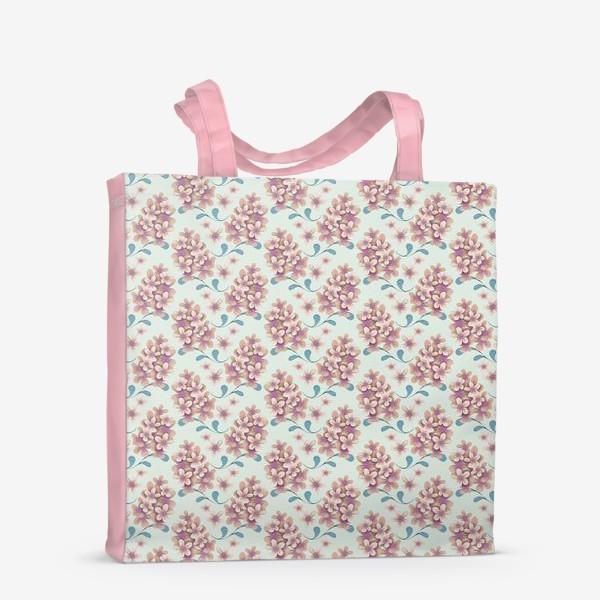 Сумка-шоппер «Нежные цветы в пастельной цветовой гамме»
