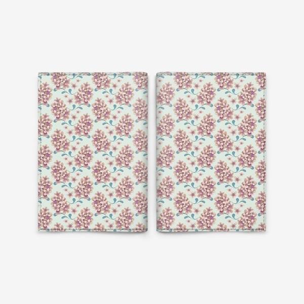 Обложка для паспорта «Нежные цветы в пастельной цветовой гамме»