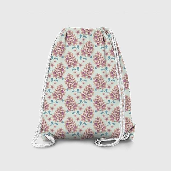 Рюкзак «Нежные цветы в пастельной цветовой гамме»