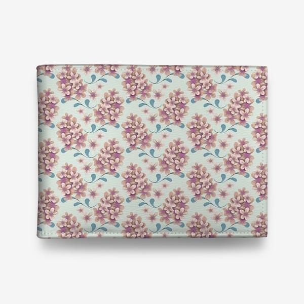 Кошелек «Нежные цветы в пастельной цветовой гамме»