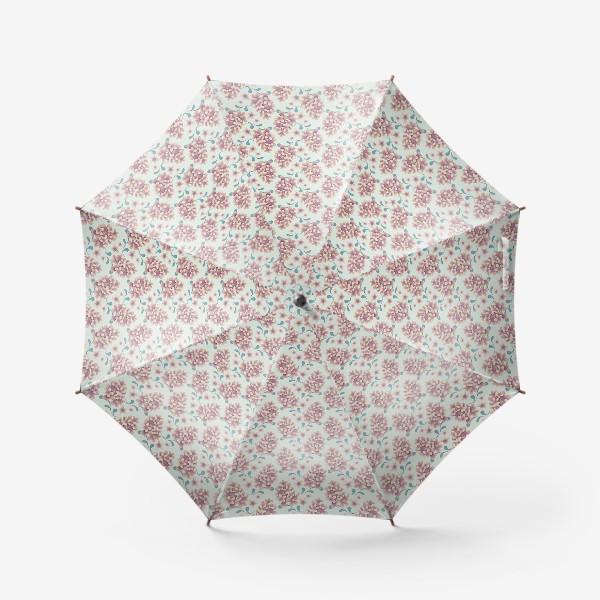 Зонт «Нежные цветы в пастельной цветовой гамме»