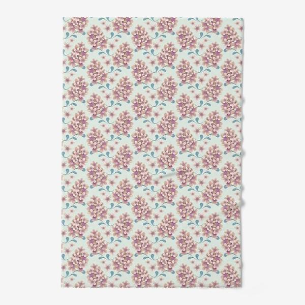 Полотенце «Нежные цветы в пастельной цветовой гамме»
