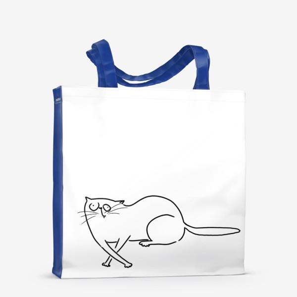 Сумка-шоппер «Чудной кот. запутался »