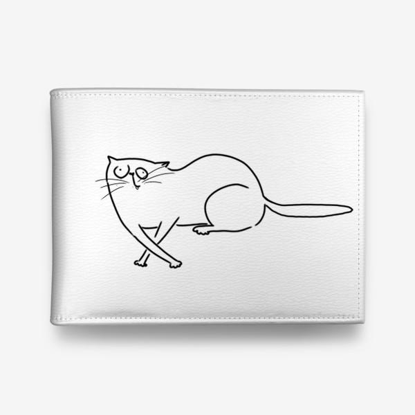 Кошелек «Чудной кот. запутался »