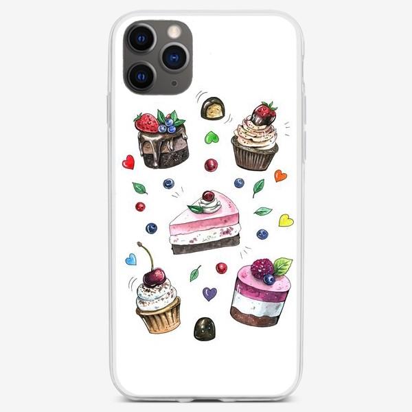 Чехол iPhone «Пирожные вкусняшки принт»