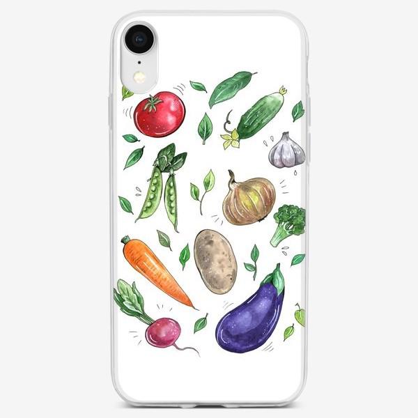 Чехол iPhone «Овощи - вкусная и здоровая пища»