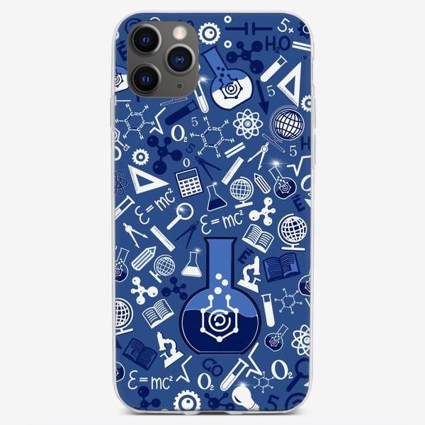 Чехол iPhone «Любовь к химии. Увлечённым экспериментами. Подарок учителю химии. 8 марта»