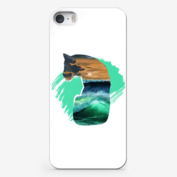 Чехол iPhone «Тигр и море»