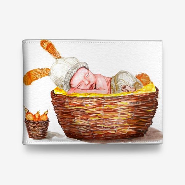 Кошелек «Малыш в корзинке»