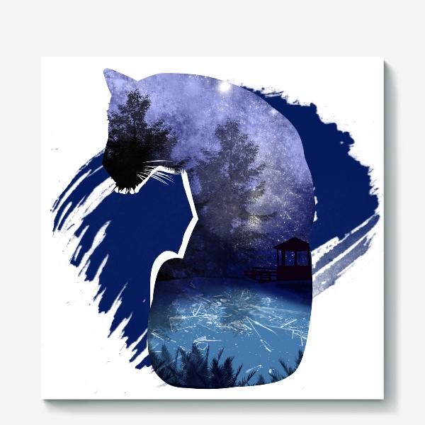 Холст «Тигр в ночи »