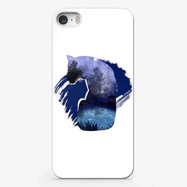 Чехол iPhone «Тигр в ночи »