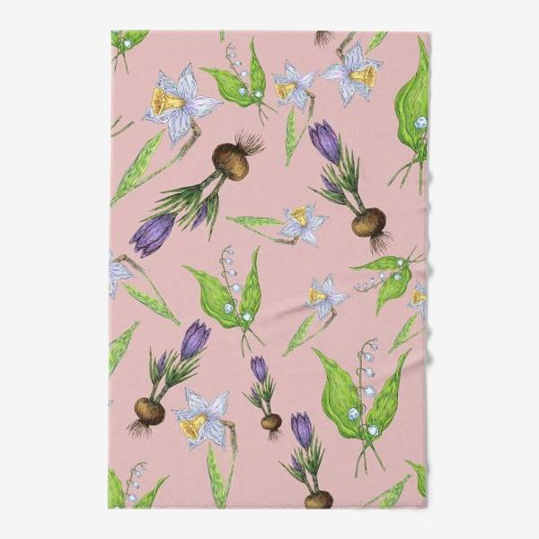 Полотенце «Паттерн нежность с весенними цветами»