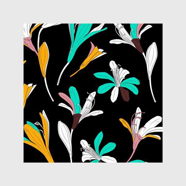 Шторы «яркие цветы и бутоны»