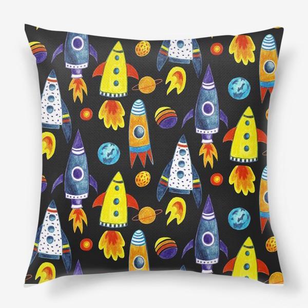 Подушка «Детский космический принт»