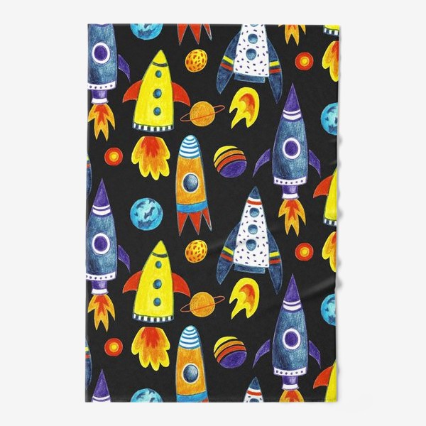 Полотенце «Детский космический принт»