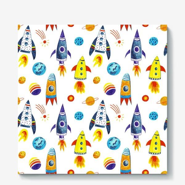 Холст «День космонавтики»