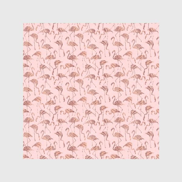 Шторы «Фламинго розовый паттерн»
