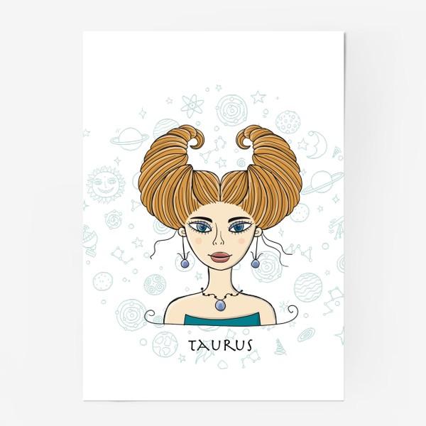 Постер «Taurus Zodiac Girl»