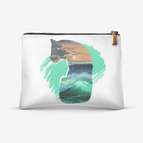 Косметичка «Тигр и море»