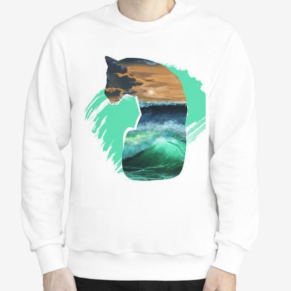 Свитшот «Тигр и море»