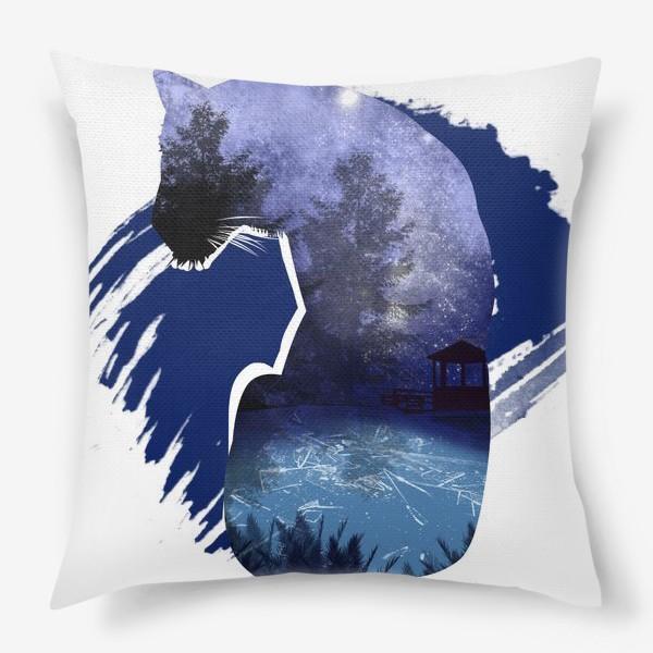 Подушка «Тигр в ночи »