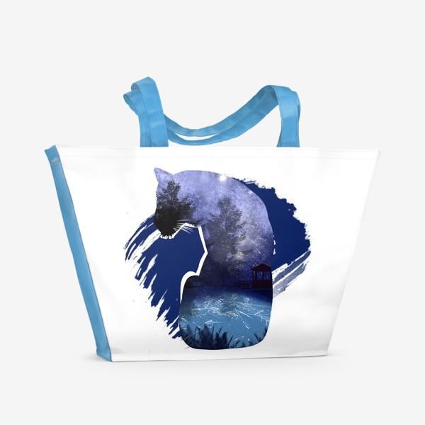 Пляжная сумка «Тигр в ночи »