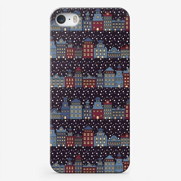 Чехол iPhone «Заснеженный город»