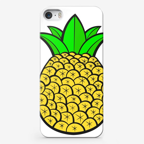 Чехол iPhone «Summer Fruits For Healthy Lifestyle. Pineapple Fruit. Vector Illustration Cartoon Flat Icon Isolated»