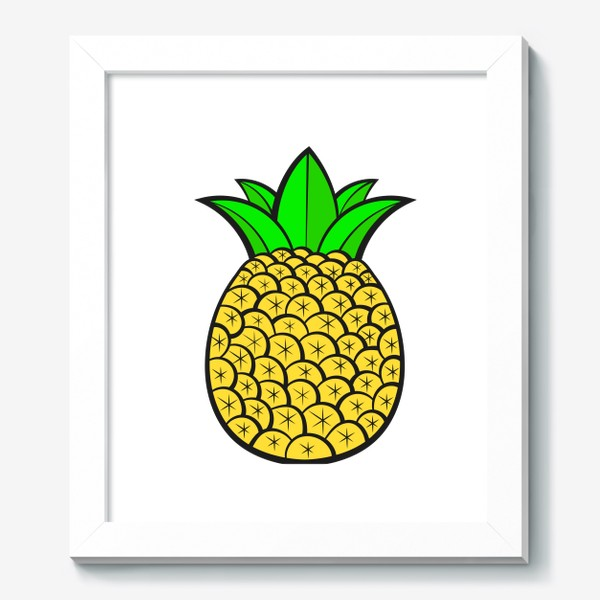 Картина «Summer Fruits For Healthy Lifestyle. Pineapple Fruit. Vector Illustration Cartoon Flat Icon Isolated»