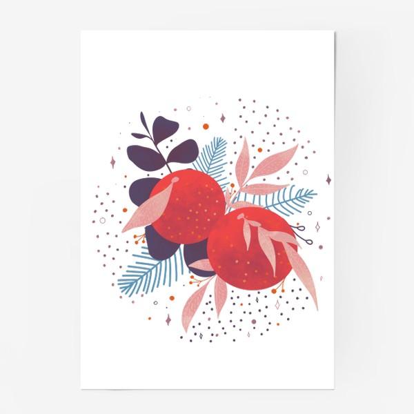 Постер «розовые мандарины»